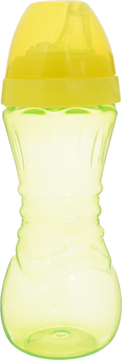 Lubby Поильник-непроливайка Суперталия от 6 месяцев цвет желтый 260 мл