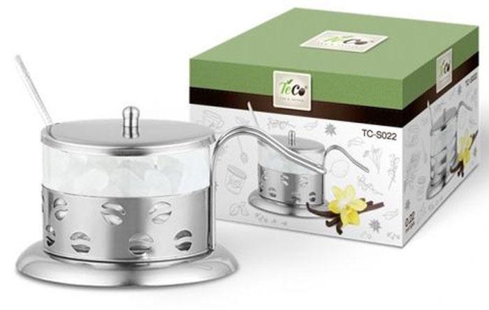 Сахарница Teco, 200 мл. TC-S022-2TC-S022-2((кофе)Сахарница TECO из стекла и нержавеющей стали (200мл)