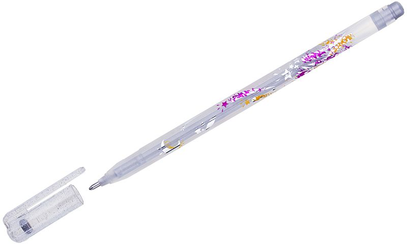 Crown Ручка гелевая Люрекс серебристаяMTJ-500GLS(D)В гелевой ручке Crown содержатся специальные чернила, в состав которых входит вода и масляная основа. Добавление блесток в чернила делают идеальным инструментом для оформительских работ. Водостойкие чернила хорошо пишут в холодную погоду и долго не выцветают. Диаметр пишущего узла – 1 мм.