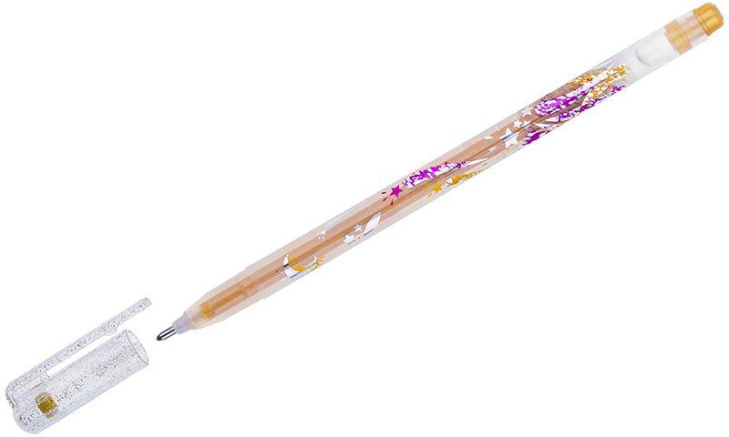 Crown Ручка гелевая Люрекс золотаяMTJ-500GLS(D)В гелевой ручке Crown содержатся специальные чернила, в состав которых входит вода и масляная основа. Добавление блесток в чернила делают идеальным инструментом для оформительских работ. Водостойкие чернила хорошо пишут в холодную погоду и долго не выцветают. Диаметр пишущего узла – 1 мм.