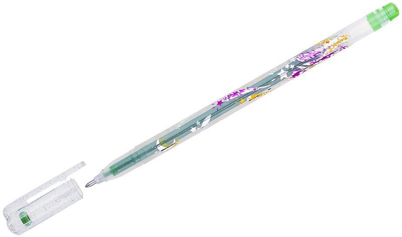 Crown Ручка гелевая Люрекс светло-зеленаяMTJ-500GLS(D)В гелевой ручке Crown содержатся специальные чернила, в состав которых входит вода и масляная основа. Добавление блесток в чернила делают идеальным инструментом для оформительских работ. Водостойкие чернила хорошо пишут в холодную погоду и долго не выцветают. Диаметр пишущего узла – 1 мм.
