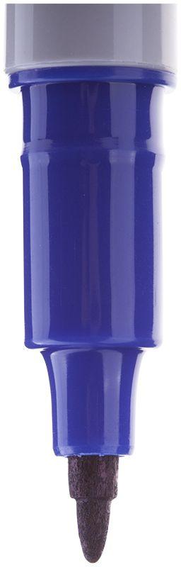 Crown Маркер перманентный P-505-F синийP-505FПерманентный маркер. Чернила на спиртовой основе, цвет - синий. Пишущий узел - 2 мм. Эргономичный изящный корпус. Круглый наконечник из высококачественного фиброволокна для создания линий средней толщины.