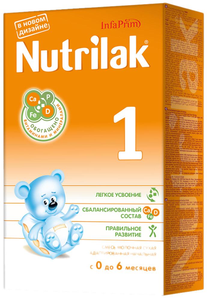 Nutrilak 1 смесь молочная с 0 месяцев, 350 г4443/8805Cмесь молочная сухая адаптированная начальная для смешанного и искусственного вскармливания детей. ОСОБЕННОСТИ СОСТАВА: высококачественный молочный белок; полиненасыщенные жирные кислоты; витамины, макро- и микроэлементы; кальций и витамин D; железо и цинк; антиоксидантный комплекс. Не содержит ГМО