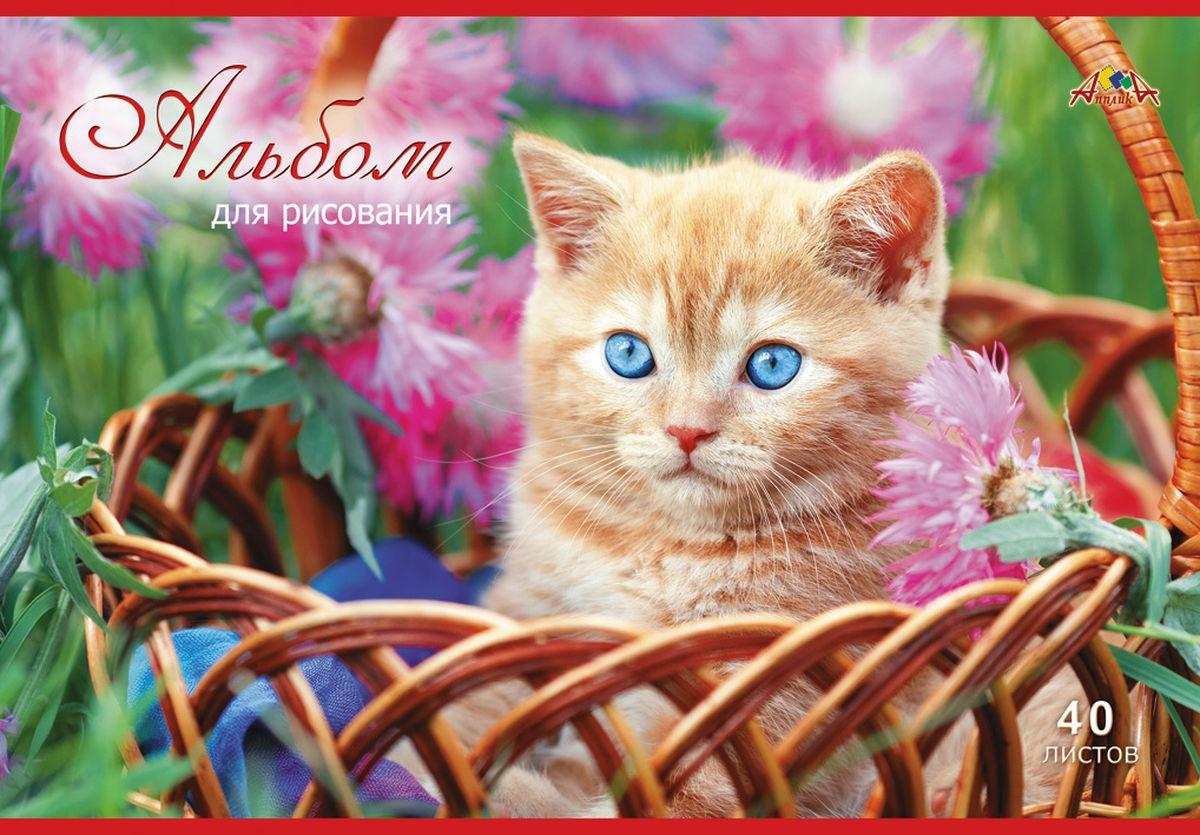 Апплика Альбом для рисования Рыжий котенок 40 листов С1184-26С1184-26Альбом для рисования, на скобе, 40 листов, формат А4, блок - офсет повышенной белизны, 110 г/м2, обложка - офсет 120 г/м2, полноцветная печать