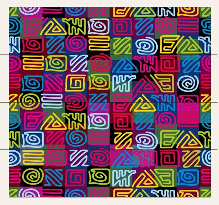 Фолиант Комплект блоков для записей Африка 8,5 х 8,5 см 4 блока по 200 листов -