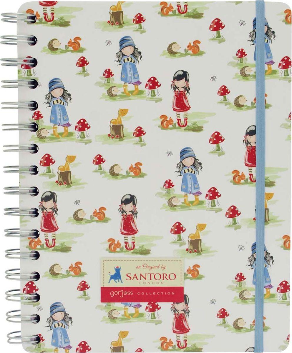 Santoro Тетрадь Toadstools Pastel Print0012467Записывайте все свои мысли в тетрадь с Gorjuss!Тетрадь имеет эластичную ленту для закрытия.