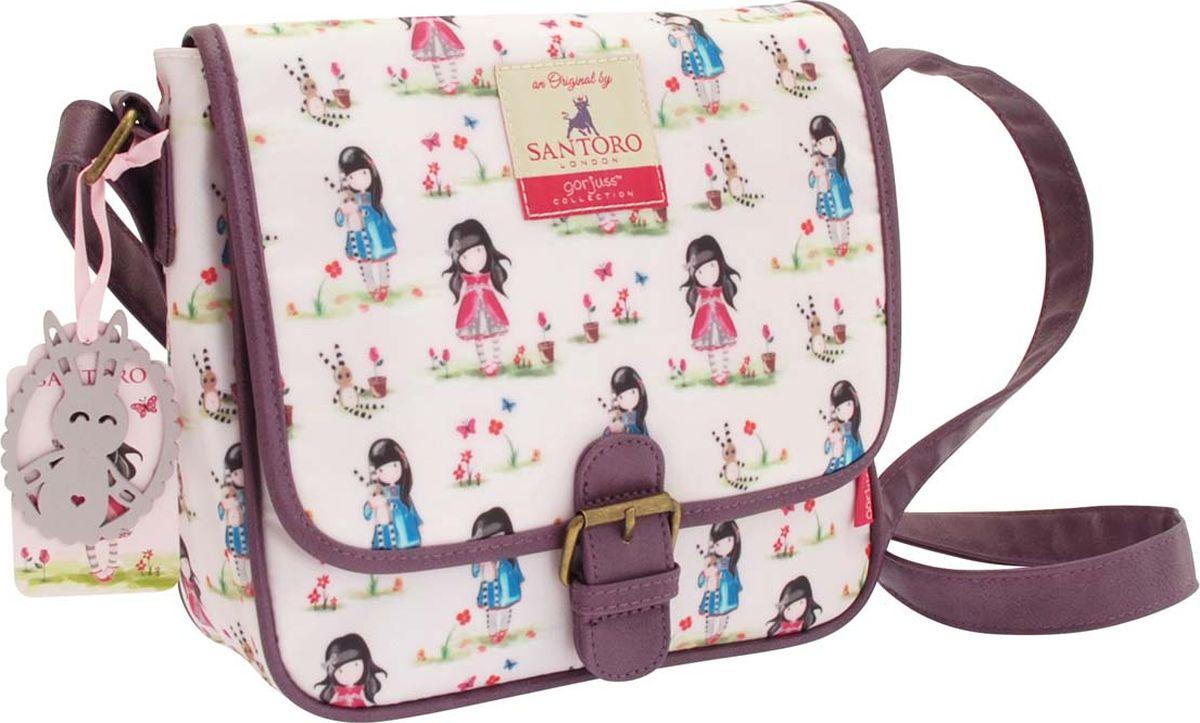 Santoro Сумка детская на плечо Ladybird Pastel Print0012554Прекрасная сумка, которая идеально подходит для всего! С регулируемым ремешком и кожаной отделкой с пряжкой, эта сумка имеет чувство современности, дополненное привлекательным оформлением. Откройте магнитный штифт, чтобы открыть внутреннее пространство для ежедневных вещей, а также дополнительный отсек с молнией и удобный карман для мобильного телефона. Сумка также обладает восхитительным чувственным прикрытием - мода для Gorjuss важна!Каждая сумка сделана вручную.Материал:Наружный: 100% полиэстер, Покрытие: 100% ПВХ, Подкладка: 100% полиэстер, Обрезка: 100% полиуретан, Ремни: 100% полиэстер