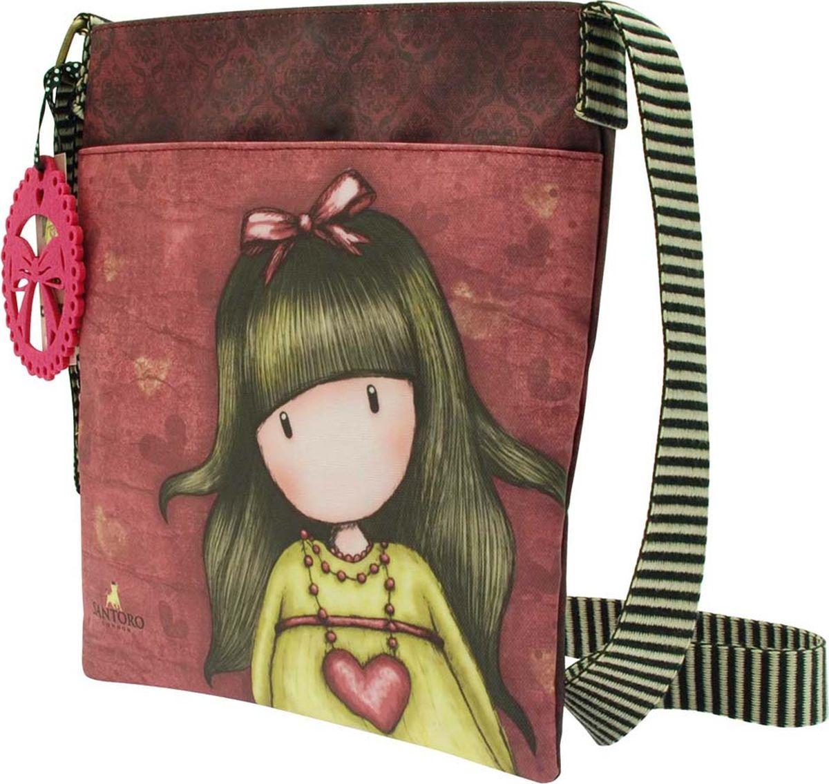 Santoro Сумка детская на плечо Heartfelt0012579Прямоугольная сумка с потрясающим рисунком с Gorjuss — лучший вариант на каждый день. В сумку с крупным внешним кармашком можно запросто уместить все, что вам может пригодиться в течение дня, — от учебников до планшета.