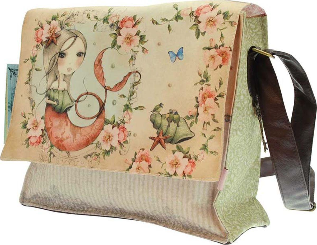 Santoro Сумка детская Mergirl0013200Эта стильная классическая сумка из коллекции Mirabelle.В главном отделении ваши лакомства будут заключены в красивую печатную розовую подкладку и закреплены креплением на липучке. Внутри мешка есть небольшой отдельный карман на молнии.Каждая сумка выполнена вручную.Материал: внешний: 100% полиэстер, подкладка: 100% полиэстер, отделка: 100% полиуретан, обрывки: 100% полиуретан