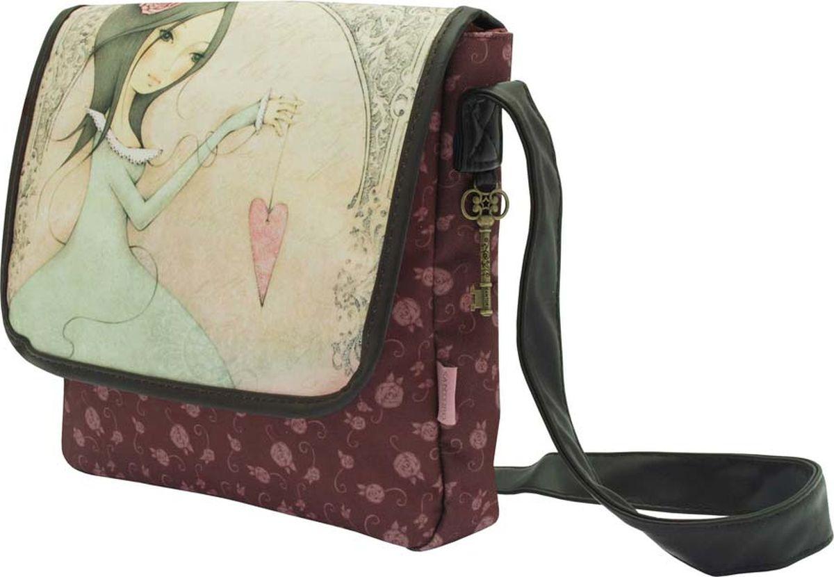 Santoro Сумка детская All For Love0013238Прекрасная сумка для изысканных девушек!В основном отсеке также имеется держатель для телефона и карман на молнии для хранения принадлежностей.Ремень для переноски легко регулируется с помощью пряжки.Каждая сумка Santoro выполнена вручную.Материал: Наружный: 100% полиэстер, ручки 100% полиуретан, подкладка 100% полиэстер