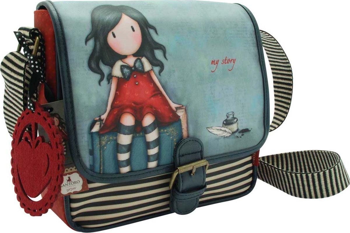 Santoro Сумка детская на плечо My Story0013337Прекрасная сумка, которая идеально подходит для всего! С регулируемым ремешком и кожаной отделкой с пряжкой, эта сумка имеет чувство современности, дополненное привлекательным оформлением. Откройте магнитный штифт, чтобы открыть внутреннее пространство для ежедневных вещей, а также дополнительный отсек с молнией и удобный карман для мобильного телефона. Сумка также обладает восхитительным чувственным прикрытием - мода для Gorjuss важна!Каждая сумка сделана вручную.Материал:Наружный: 100% полиэстер, Покрытие: 100% ПВХ, Подкладка: 100% полиэстер, Обрезка: 100% полиуретан, Ремни: 100% полиэстер