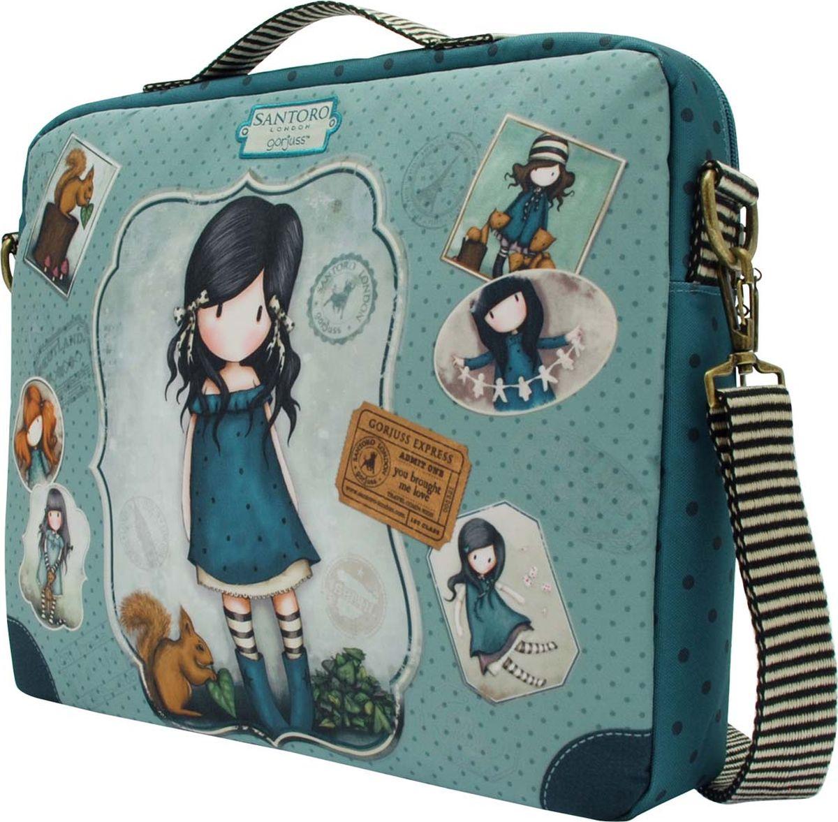 Сохраните свой ноутбук в целости и сохранности вместе с портфелем Gorjuss!Невероятно стильная сумка - аксессуар для настоящей леди!Материал: Наружный: Полиэстер 100%, Подкладка: Полиэфир 100%.