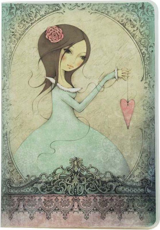 Santoro Блокнот All For Love 00131740013174Этот блокнот в твердой обложке с девочкой Mirabelle - идеальное место для сбора ваших мыслей и чувств!