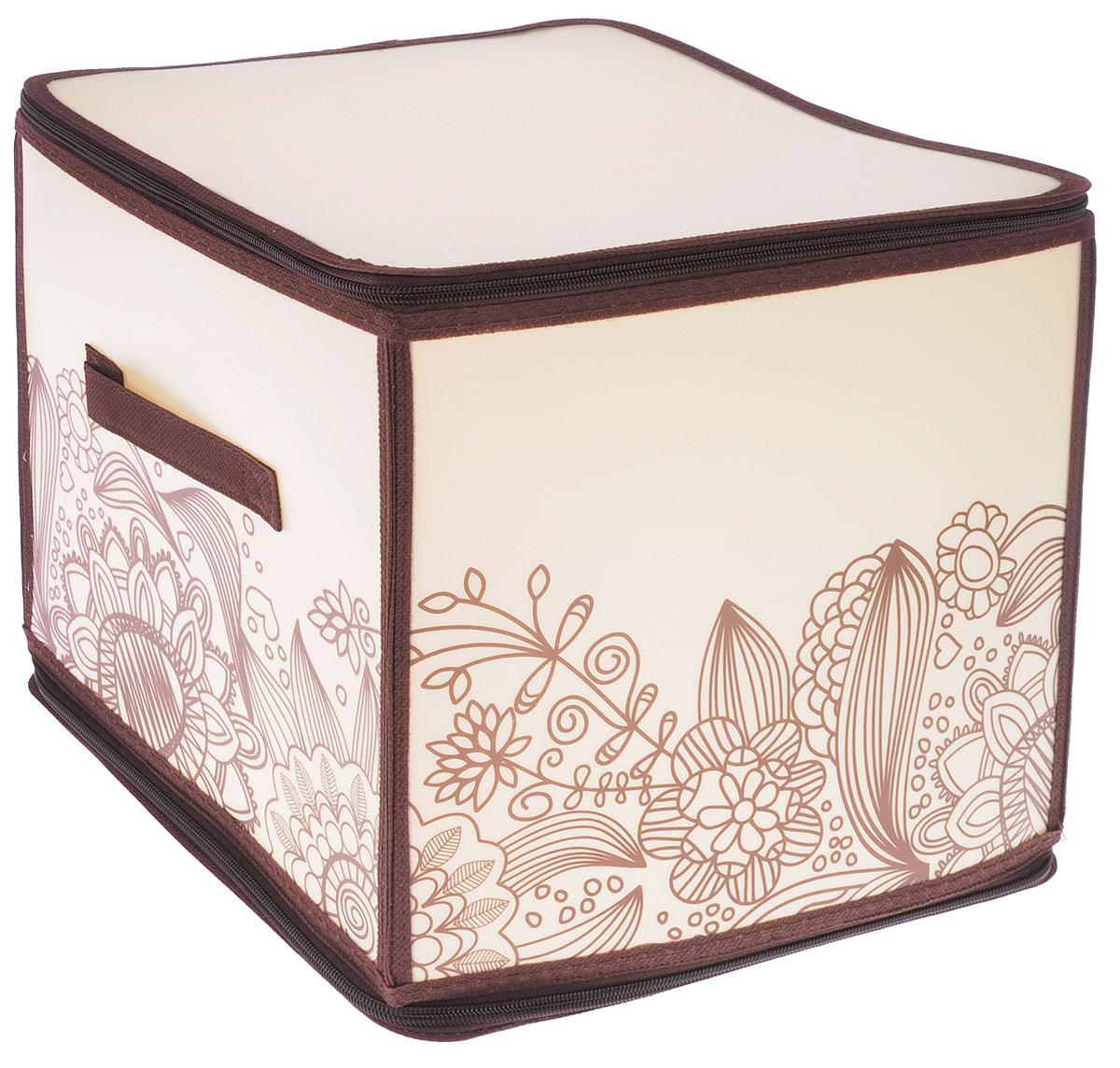 Коробка для хранения Handy Home Цветы, складная, 30 х 30 х 30 смESH03 SLКоробка для хранения Handy Home Лето изготовлена из полипропилена и оформлена оригинальным принтом. Изделие легко и быстро складывается. Коробка закрывается с помощью молнии и может вмешать в себя любые бытовые вещи и обувь. Изделие дополнено ручкой для удобства переноски. Размеры коробки в сложенном виде: 30 х 30 х 2 см
