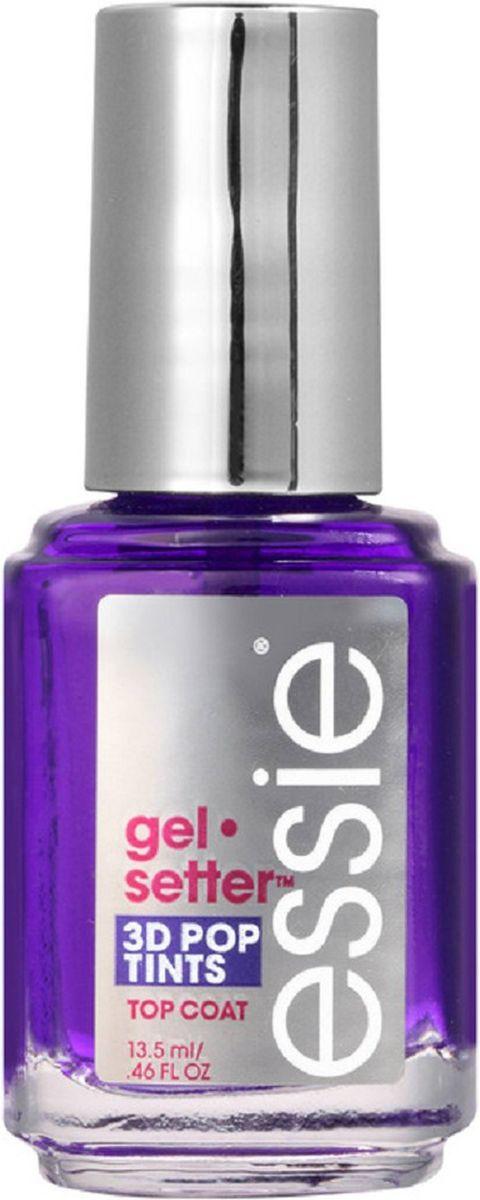 """Essie Гелевое покрытие для ногтей Gel Setter, оттенок Сиреневый, 13,5 млKNP084Увеличьте стойкость и блеск своего любимого лака в 2 раза! С формулой покрытия Эсси Gel setter, обогащенной специальными гелеоборазующими компонентами, вы получите плотное и роскошное покрытие, не уступающее гель-лакам! Топовое покрытие """"Gel setter"""" не требует использования УФ-лампы и легко снимается, не портя ногтевую пластину."""