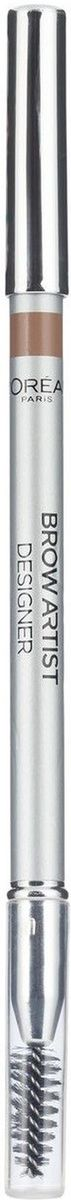 LOreal Paris Карандаш для бровей Brow Artist, оттенок 301, светло-коричневый, 5 г5010777139655Профессиональный карандаш для бровей BROW ARTIST DESIGNER от LOREAL PARIS в ультра-современном дизайне. Точеный грифель идеально прокрашивает и подчеркивает изгиб бровей, а мягкая щеточка моделирует форму, придавая выразительный характер взгляду.