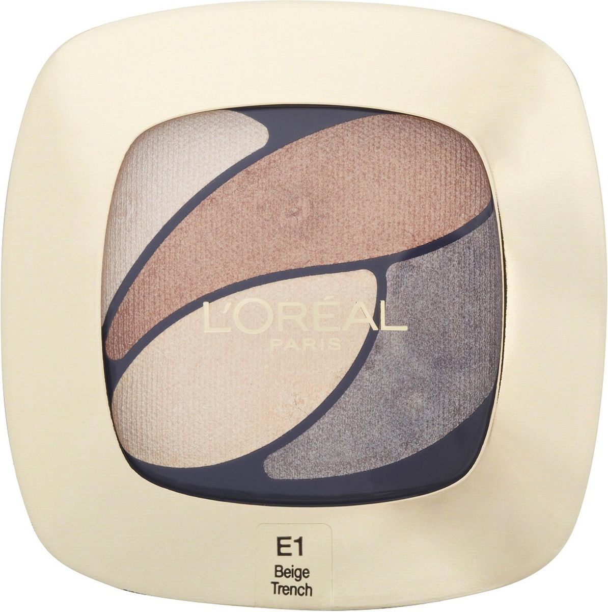 LOreal Paris Тени для век Color Riche, Квадро, оттенок Е1 Бежевый тренч, стойкие, 4,5 г5010777139655Тени Квадро Color Riche - ваш персональный визажист . Модные оттенки, насыщенные цвета. Формула нового поколения: идеальная пропорция пигментов и перламутровых частиц для достижения насыщенного и яркого цвета. Инновационный двусторонний аппликатор для профессионального нанесения: традиционная кисточка для растушевки базовых цветов, углообразная кисточка для создания эффекта подводки. Нежная кремовая текстура. Стойкость 12 часов.