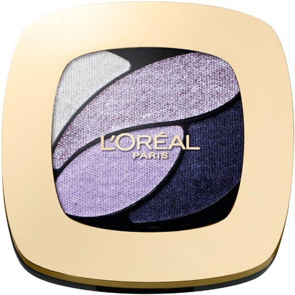 LOreal Paris Тени для век Color Riche, Квадро, оттенок E7, Сиреневые шпильки, стойкие, 4,5 г5010777142037Тени Квадро Color Riche - ваш персональный визажист . Модные оттенки, насыщенные цвета. Формула нового поколения: идеальная пропорция пигментов и перламутровых частиц для достижения насыщенного и яркого цвета. Инновационный двусторонний аппликатор для профессионального нанесения: традиционная кисточка для растушевки базовых цветов, углообразная кисточка для создания эффекта подводки. Нежная кремовая текстура. Стойкость 12 часов.