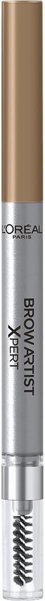 LOreal Paris Механический карандаш для бровей Brow Artist Xpert, Оттенок 101, Блонд2101-WX-01Механический карандаш для бровей для идеально очерченных бровей любой формы.