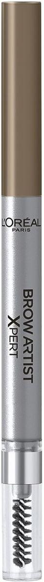 LOreal Paris Механический карандаш для бровей Brow Artist Expert, Оттенок 102, Холодный блондMFM-3101Механический карандаш для бровей для идеально очерченных бровей любой формы.