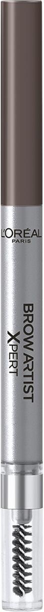 LOreal Paris Механический карандаш для бровей Brow Artist Xpert, Оттенок 107, Темно-коричневыйA8998100Механический карандаш для бровей для идеально очерченных бровей любой формы.