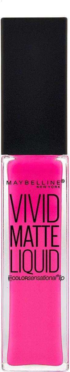 Maybelline New York Жидкая Матовая Губная Помада Vivid Matte, оттенок 15, Дерзкий розовый, 7,7 млPMF3000чистейшие природные пигменты придают губам соблазнительный насыщенный цвет. Жидкая матовая губная помада