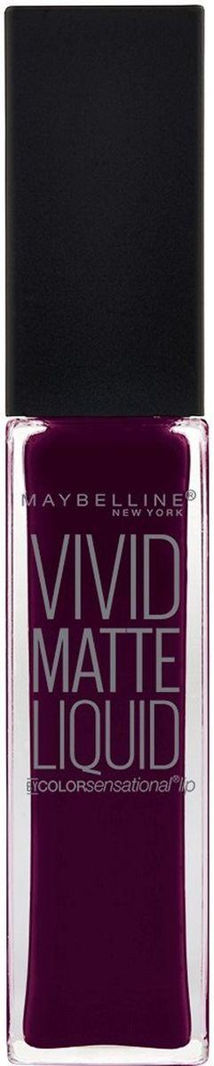 """Maybelline New York Жидкая Матовая Губная Помада """"Vivid Matte"""", оттенок 45, Глубокий сливовый, 7,7 мл"""