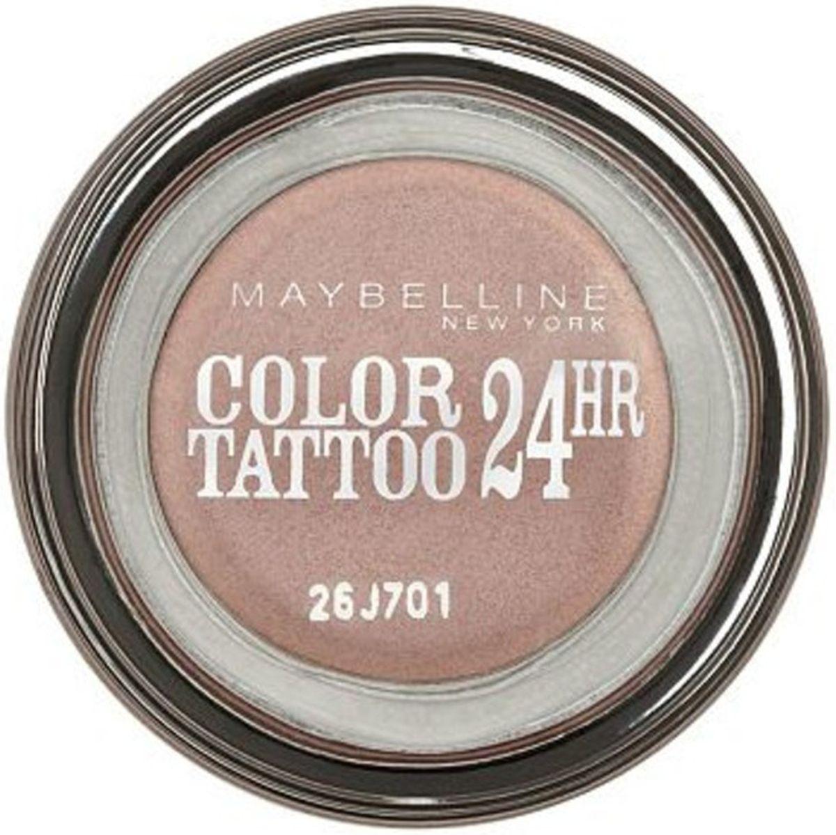 Maybelline New York Стойкие тени для век Color Tattoo 24 часа, оттенок 101 Морозное Дыхание, 4 млB2760500Технология тату-пигментов создает яркий, супернасыщенный цвет. Крем-гелевая текстура обеспечивает ультралегкое нанесение и стойкость на 24 часа.