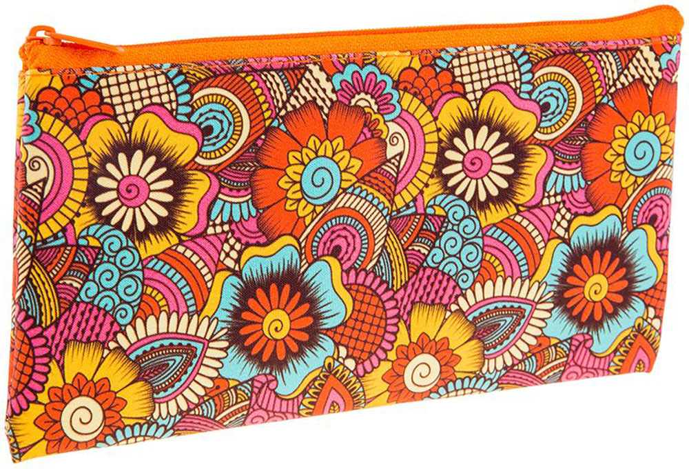 ArtSpace Пенал-косметичка Цветы цвет оранжевый