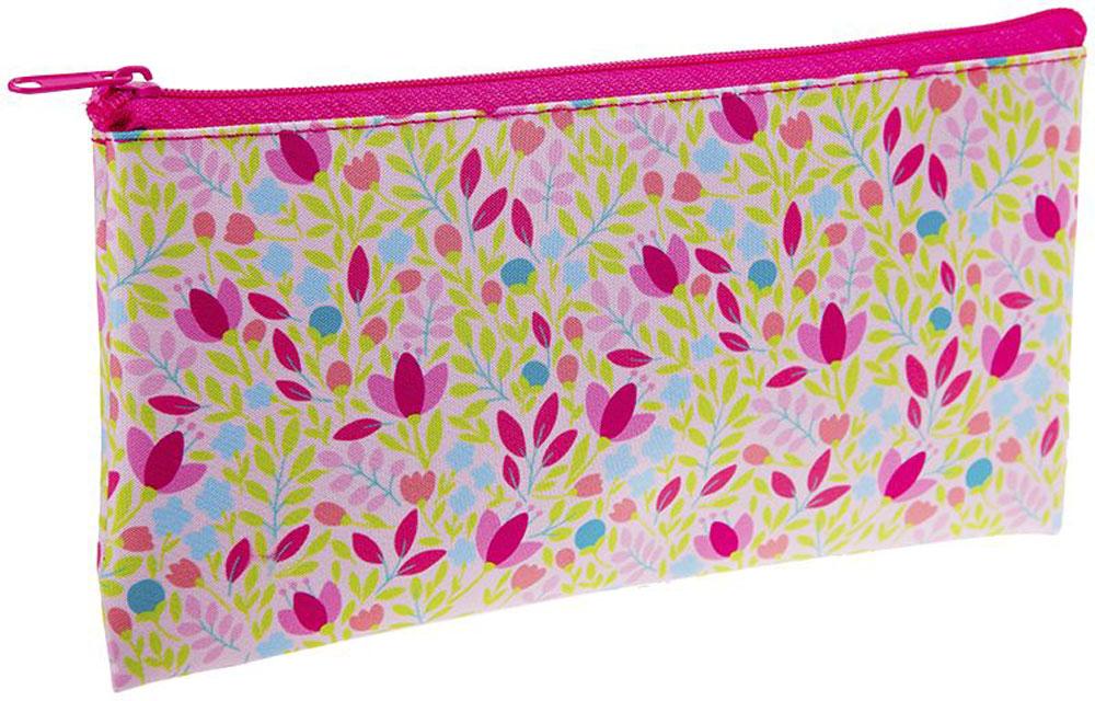 ArtSpace Пенал-косметичка Цветы цвет розовый