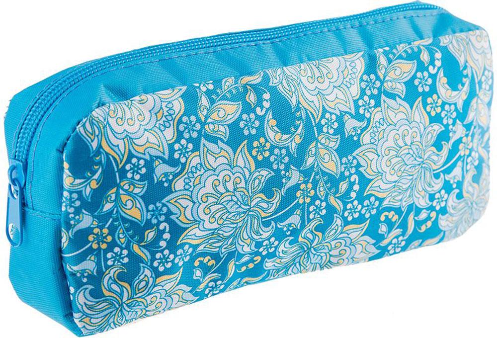 ArtSpace Пенал-косметичка Узоры цвет голубой