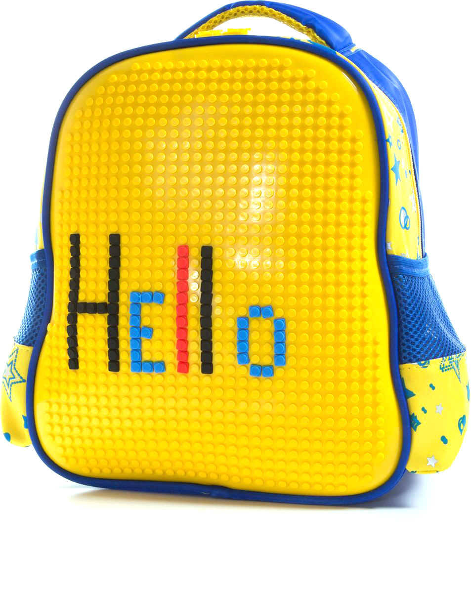 Vittorio Richi Рюкзак для мальчика цвет синий, желтый K07R8880872523WDРюкзак Vittorio Richi с набором пикселей в комплекте. Водоотталкивающая износостойкая ткань. Укрепленная спинка, эластичные широкие лямки. У рюкзака одно основное отделение, дополнительный карман для мелочей внутри, два открытых кармашка по бокам.