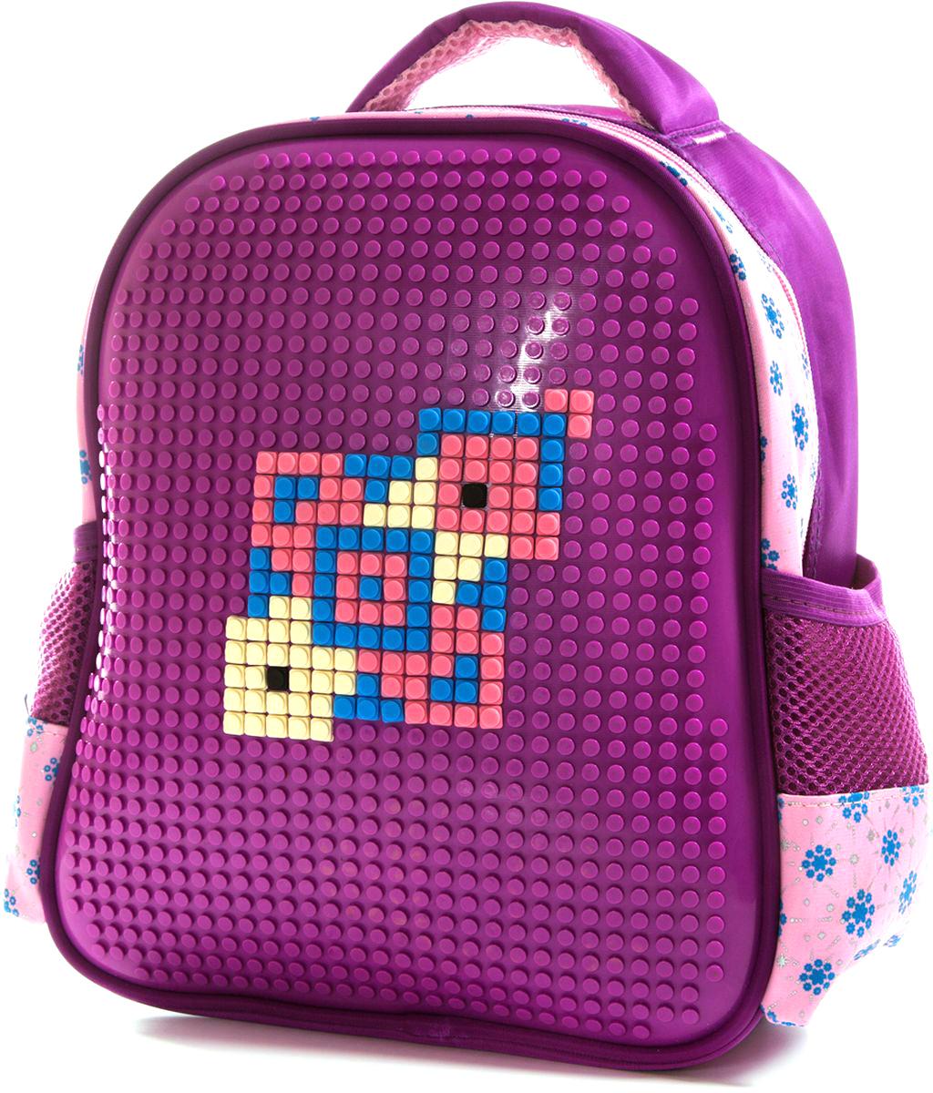 Vittorio Richi Рюкзак для девочки цвет фиолетовый, розовый K07R8880972523WDРюкзак Vittorio Richi с набором пикселей в комплекте. Водоотталкивающая износостойкая ткань. Укрепленная спинка, эластичные широкие лямки. У рюкзака одно основное отделение, дополнительный карман для мелочей внутри, два открытых кармашка по бокам.