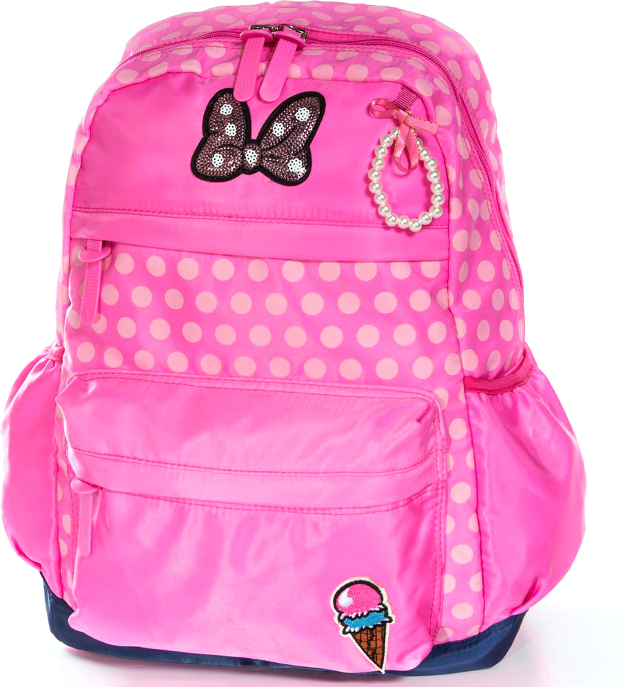 Vittorio Richi Рюкзак для девочки цвет розовый, малиновый K07R95991472523WDРюкзак Vittorio Richi из водоотталкивающей износостойкой ткани. Укрепленная спинка, эластичные широкие лямки. У рюкзака два основных отделения на молниях, дополнительный карман для мелочей внутри, два открытых кармашка по бокам, внешний объёмный карман на молнии.