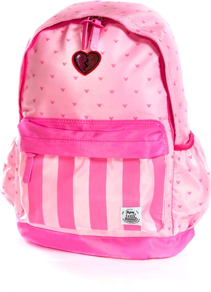 Vittorio Richi Рюкзак для девочки цвет розовый, малиновый K07R960014730396Рюкзак Vittorio Richi из водоотталкивающей износостойкой ткани. Укрепленная спинка, эластичные широкие лямки. У рюкзака одно основное отделение, дополнительный карман для мелочей внутри, два открытых кармашка по бокам, внешний объёмный карман на молнии.