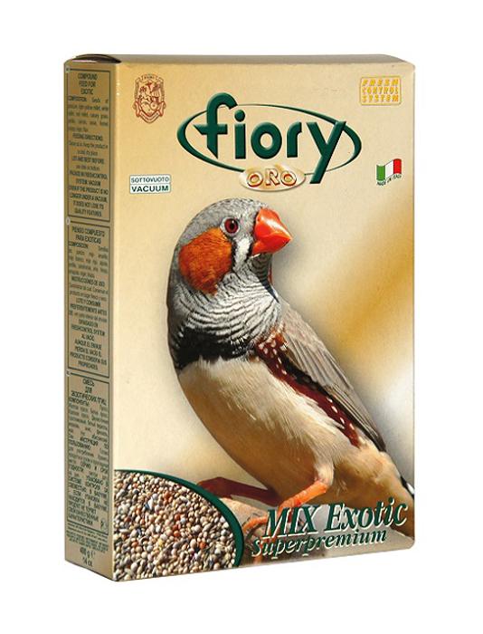 Корм сухой Fiory ORO MIX Exotic для экзотических птиц, 400 г05810FIORY ORO корм для экзотических птиц.Экзотические птицы требуют особого ухода и питания.Корм для экзотических птиц подойдет в качестве основного и полноценного питания для вашей птички.EXOTIC ORO Fiory состоит из двенадцати различных типов семян, 70% которых жизненно важны для питания птиц, а остальные 30% - настоящее лакомство.Для улучшения вкусовых качеств были добавлены семена аниса, сладкого укропа, моркови, периллы, цикория и мака, которые очень нравятся экзотическим птицам.