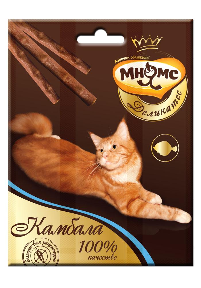 Лакомство Мнямс Деликатес лакомые палочки, 9 см, для кошек, с камбалой, 4 г, 3 шт12171996Изысканное лакомое угощение из великолепной коллекции вкусов Мнямс Деликатес не оставит равнодушной вашу кошку и подарит ей незабываемое удовольствие!- Свежайшие ингредиенты- Высокое содержание натуральных рыбных деликатесов!- Индивидуальная упаковка