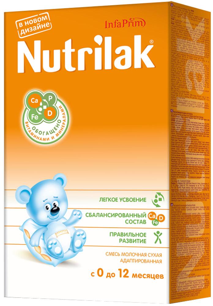Nutrilak до 12 мес смесь молочная с 0 месяцев, 350 г4444/8804Смесь молочная сухая адаптированная для смешанного и искусственного вскармливания детей. ОСОБЕННОСТИ СОСТАВА: высококачественный молочный белок; полиненасыщенные жирные кислоты; витамины, макро- и микроэлементы; кальций и витамин D; железо и цинк; антиоксидантный комплекс. Не содержит ГМО