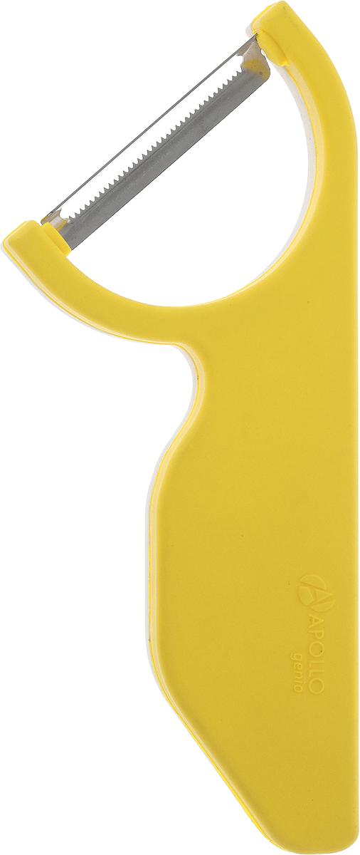 Овощечистка Apollo Genio Brave Carrot, цвет: желтый, белый, длина 14,5 см115510Овощечистка Apollo Genio Brave Carrot выполнена из высококачественной нержавеющей стали и полипропилена. Очень удобная ручка не позволит выскользнуть овощечистке из вашей руки. Удобная овощечистка Apollo Genio Brave Carrot поможет вам очень быстро и без особого усилия почистить овощи. Общая длина овощечистки: 14,5 см.Размер рабочей части: 5 х 1 см.Длина лезвия: 4 см.