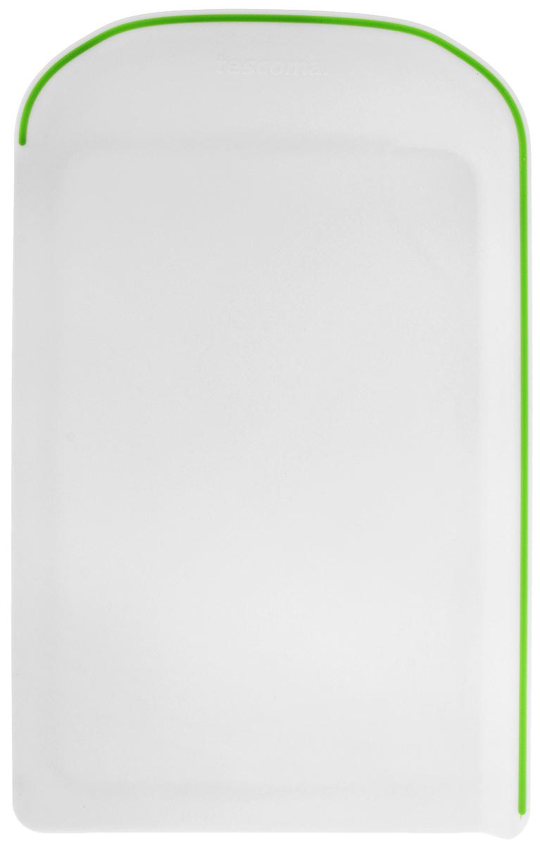 Разделочная доска Tescoma Vitamino, цвет: белый, зеленый115510Двухсторонняя разделочная доска Tescoma Vitamino предназначена для обработки всех видов продуктов, идеально подходит для нарезки овощей и фруктов. Антибактериальная - со специальной обработкой поверхности, препятствующей росту бактерий. Производится из высококачественного, очень прочного пластика. Можно мыть в посудомоечной машине. Размеры: 40 х 26,3 х 2,5 см