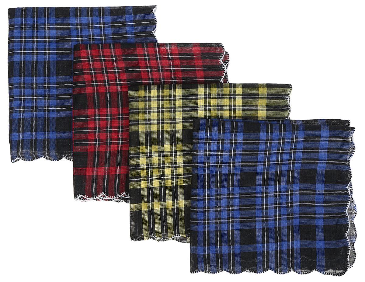 Платок носовой женский Zlata Korunka, цвет: черный, синий, красный, желтый, 4 шт. 71417. Размер 27 х 27 смБраслет с подвескамиПлаток носовой женский Zlata Korunka, цвет: черный, синий, красный, желтый, 4 шт. 71417. Размер 27 х 27 см