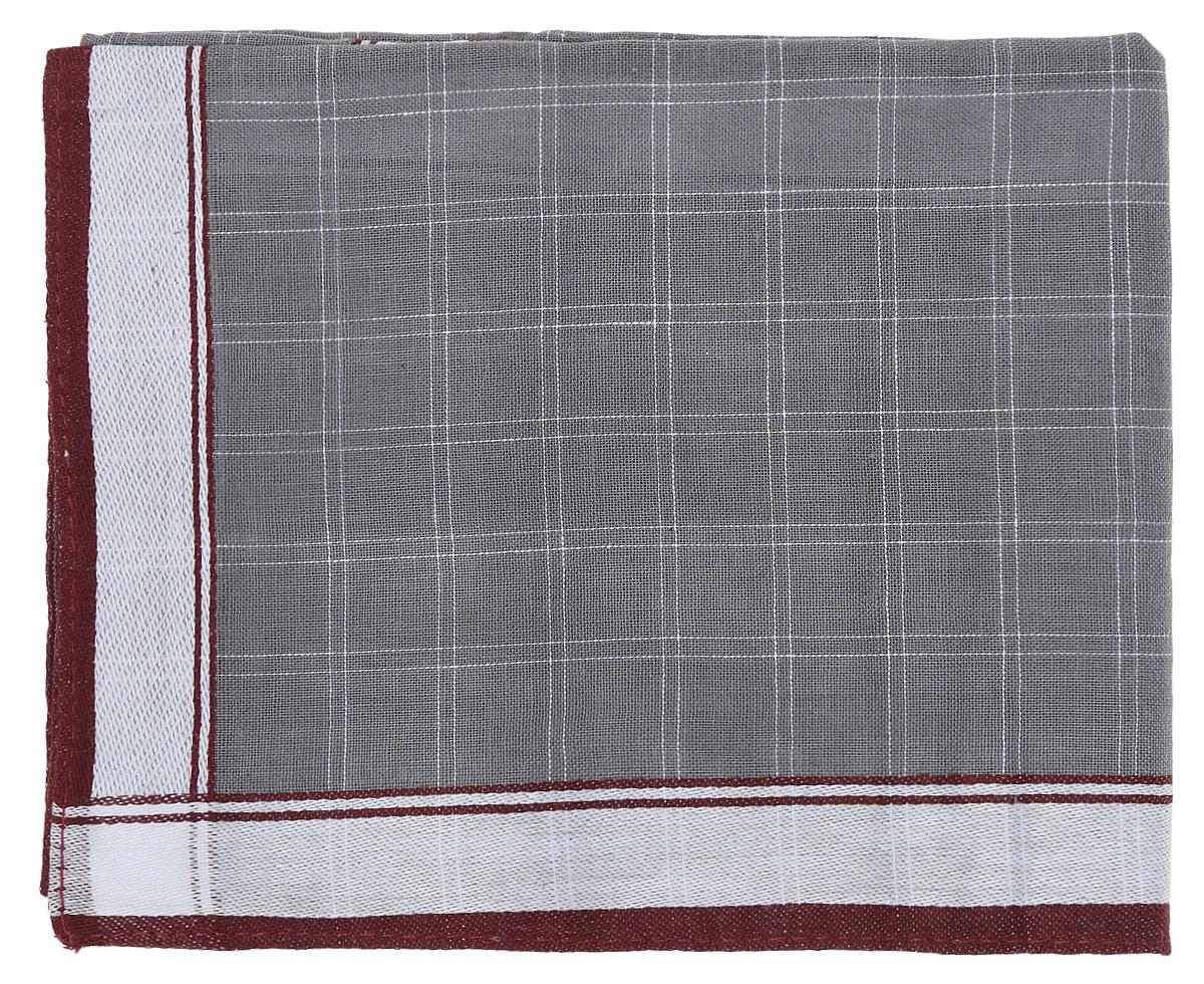 Платок носовой мужской Zlata Korunka, цвет: серый, бордовый. 45495. Размер 38 х 38 смАжурная брошьПлаток носовой мужской Zlata Korunka, цвет: серый, бордовый. 45495. Размер 38 х 38 см