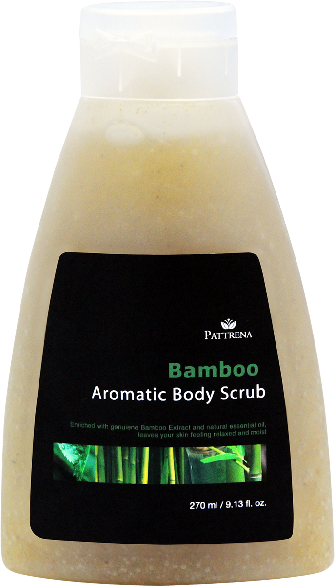 Pattrena Ароматный скраб для тела тайский Бамбук, 270 мл66-Ф-8-446РСкраб для тела с натуральными питательными ингредиентами – скорлупа грецкого ореха, удаляет омертвевшие клетки, придавая дополнительное питание коже. Скраб обогащен экстрактом Бамбука, придает ощущение свежести на длительное время. Смягчает кожу. Несет в себе антисептические свойства. Обладает уникальным пробуждающим ароматом.