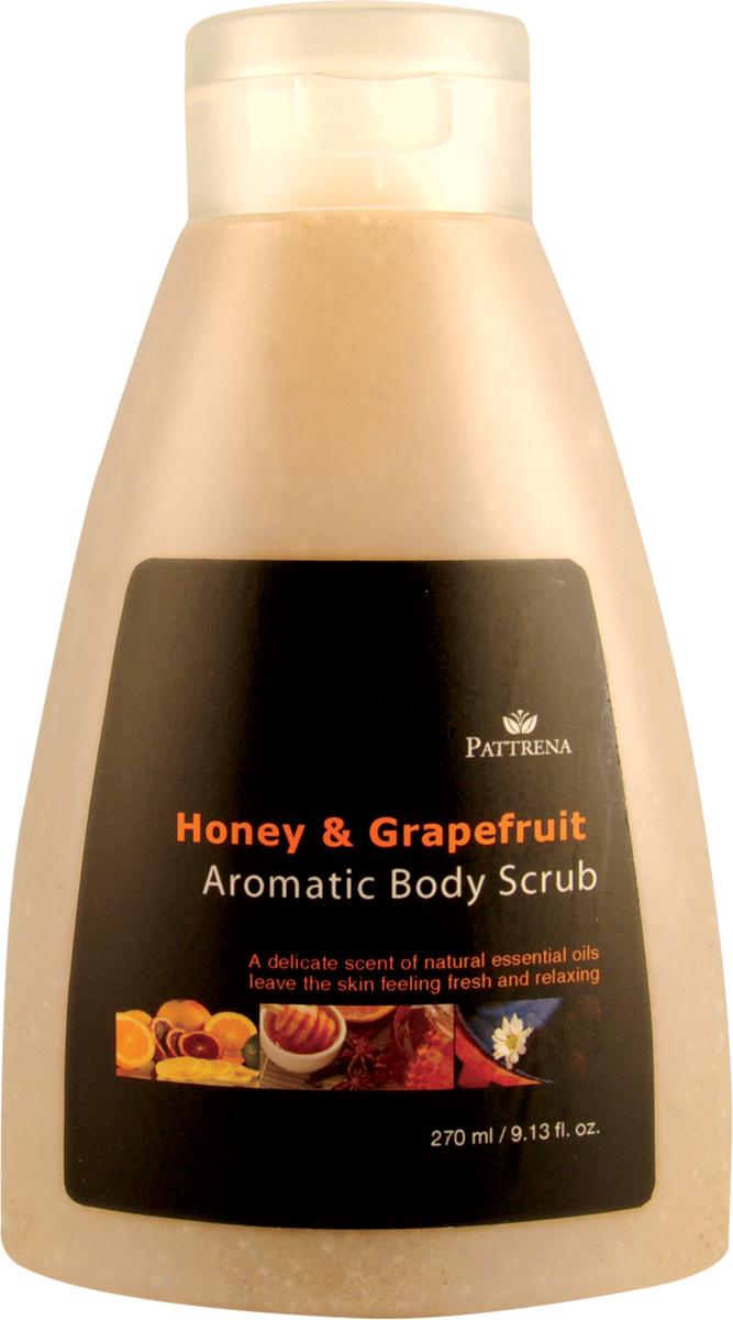 Pattrena Ароматный скраб для тела тайский Мёд и Грейпфрут, 270 мл63239Скраб для тела с натуральными питательными ингредиентами – скорлупа грецкого ореха, удаляет омертвевшие клетки, придавая дополнительное питание коже. Увлажняет и смягчает сухую кожу. Обладает нежным ароматом Меда и Грейпфрута, придает ощущение свежести и расслабленности.