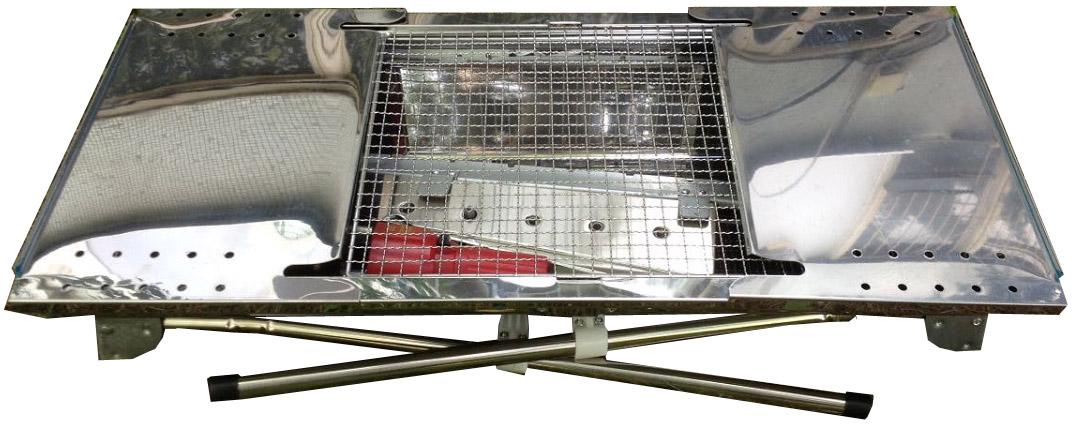 Мангал Drivemotion Megagrill Ubrs005, с электроприводомUBRS005Новейшая модель переносного мангала из нержавеющей стали с электроприводом!Особенность данной модели-электромотор. С помощью данного девайса шампура вращаются автоматически в двух направлениях. Теперь нет необходимости стоять возле мангала и крутить горячие шампура руками, а продукты запекаются равномерно со всех сторон.В комплект входит:Мангал складной с раздвижными створками(1шт)Шампура(6шт)Решетка(2шт)Ручки для переноски(5шт)Поддон для продуктов(1шт)Ручки для поддона(2шт)Электромотор(1шт)Поддон для угля(1шт)Подставка под шампуров(1шт)Подставка для шампуров с вращательным механизмом(1шт)