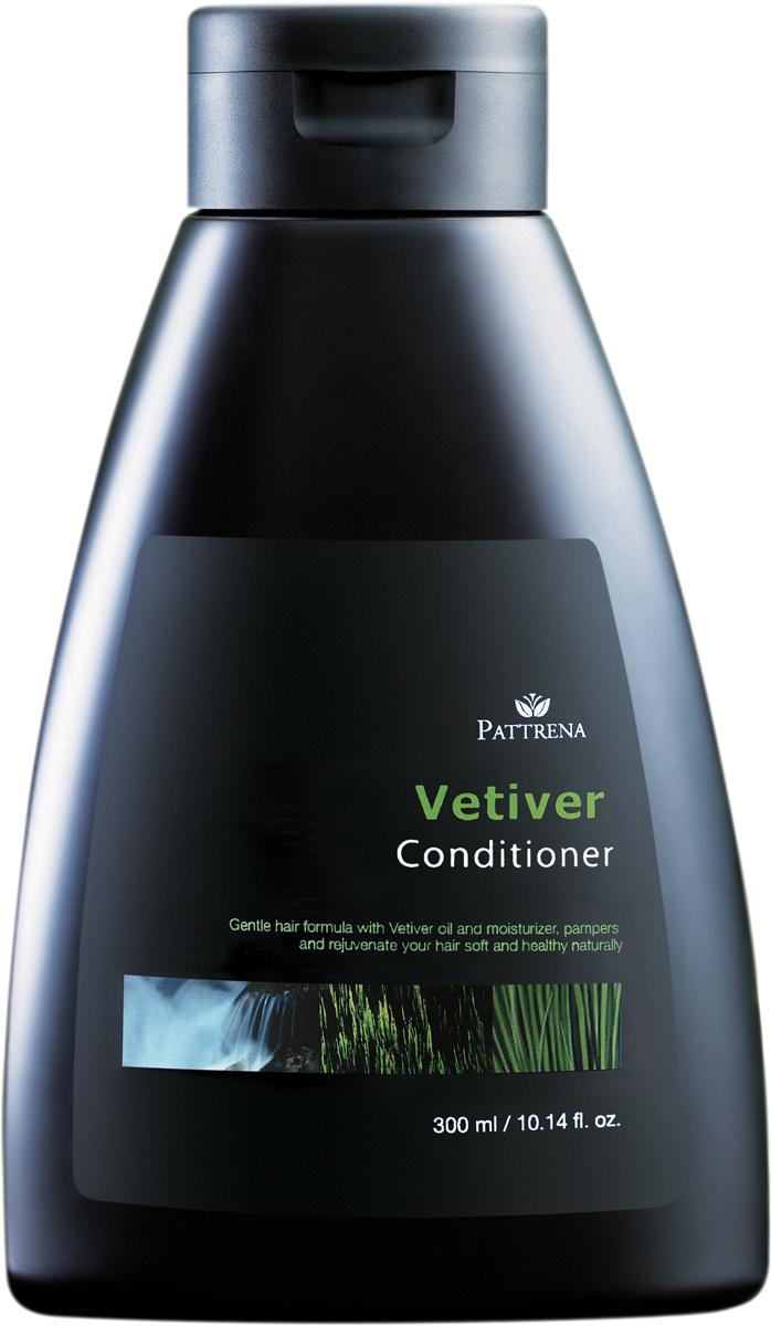 Pattrena кондиционер для волос Ветивер, 300 мл65534Обогащенный кондиционер экстрактом корня Vetiver - многолетняя трава семейства Злаковых. Кондиционер содержит формулу мягкого увлажнения благодаря экстракту Ветивера. Питает волосы, придает волосам упругость и эластичность. Обладает сладковатым, земляным, древесным - пряным ароматом с оттенком дыма. Подходит для нормальных и жирных волос.