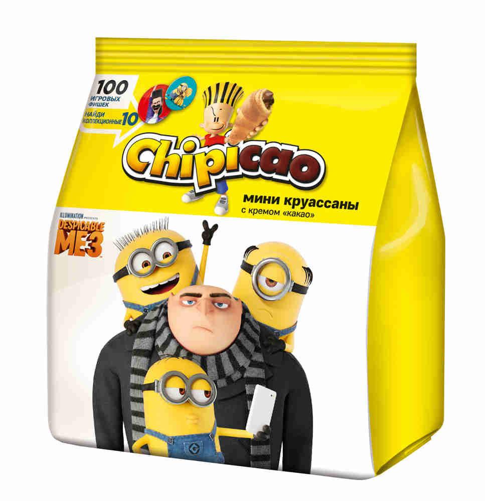 Chipicao - идеальное сочетание еды и веселья!Chipicao - это круассаны и коллекционный подарок с любимыми героями в каждой упаковке.Уважаемые клиенты! Обращаем ваше внимание на то, что упаковка может иметь несколько видов дизайна. Поставка осуществляется в зависимости от наличия на складе.