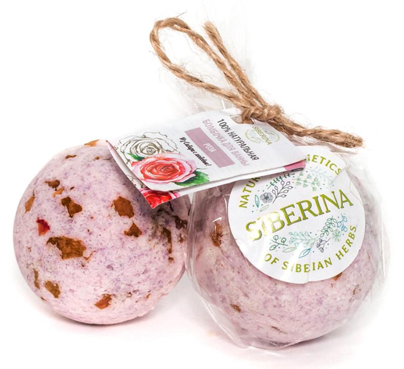Siberina Бомбочка для ванны Роза, 80 гCR(8)-SIBПрекрасно смягчает кожу и делает ее очень нежной.
