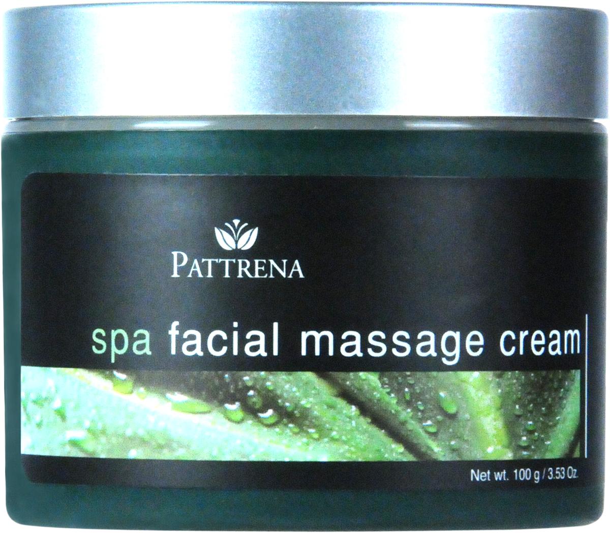 Pattrena Массажный крем для лица Паттрена Спа, 100 г65114Действие концентрированного массажа лица усилено благодаря различным растительным экстрактам, полезным для всех типов кожи. Огуречный экстракт, экстракт женьшеня и пуэрарии улучшает кровообращение и поддерживает нежность, блеск и эластичность вашей кожи, а также оставляет на вашем лице ощущение свежести, обновления и восстановления.Полезные свойства:• стимулирует кровообращение.• придает мягкость, блеск и гладкость коже, сохраняя этот эффект.• сокращает количество морщин и делает кожу более эластичной.