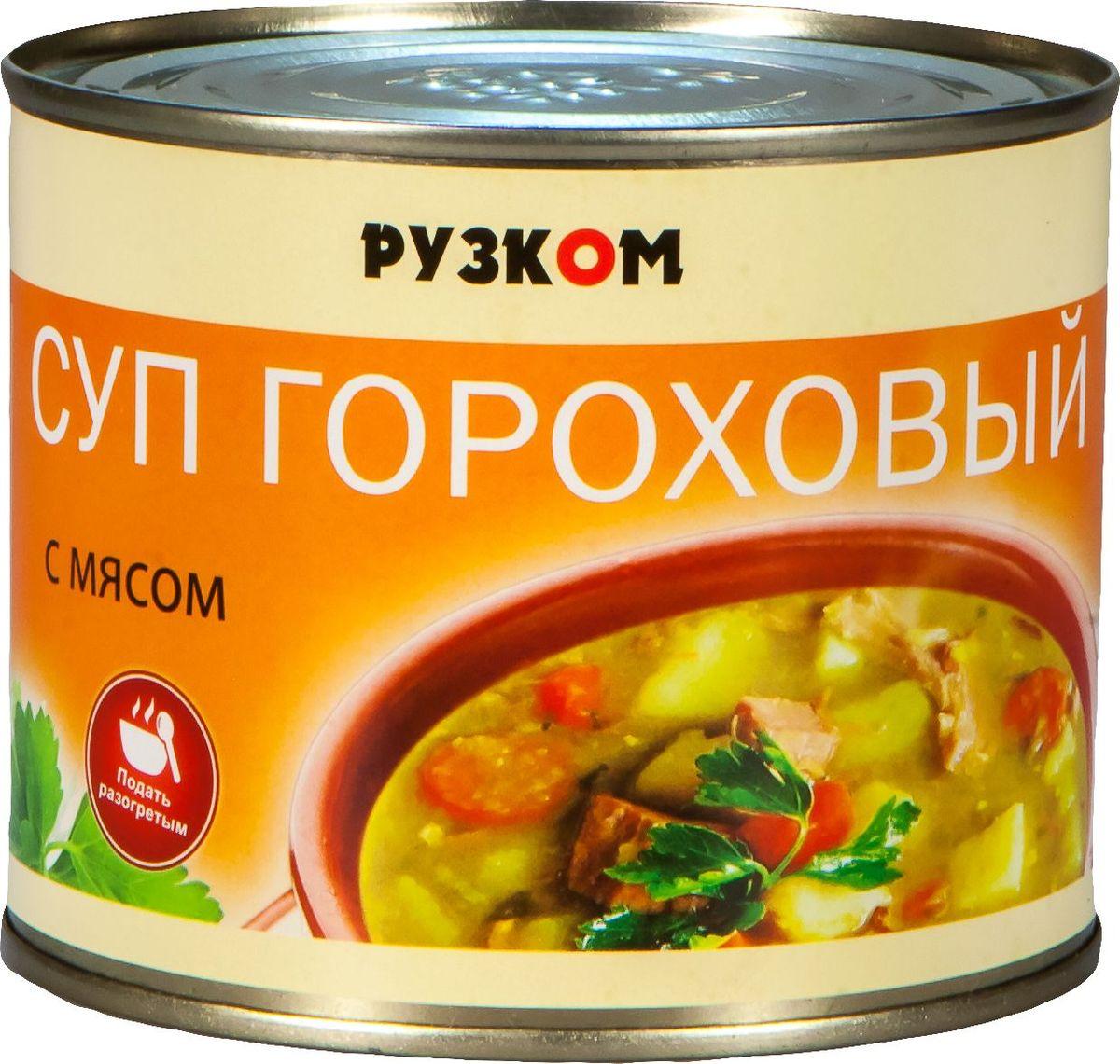 Рузком Суп гороховый с мясом, 540 г4606411012142